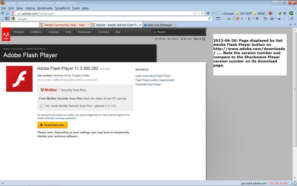 Adobe Flash Player for Mozilla Firefox