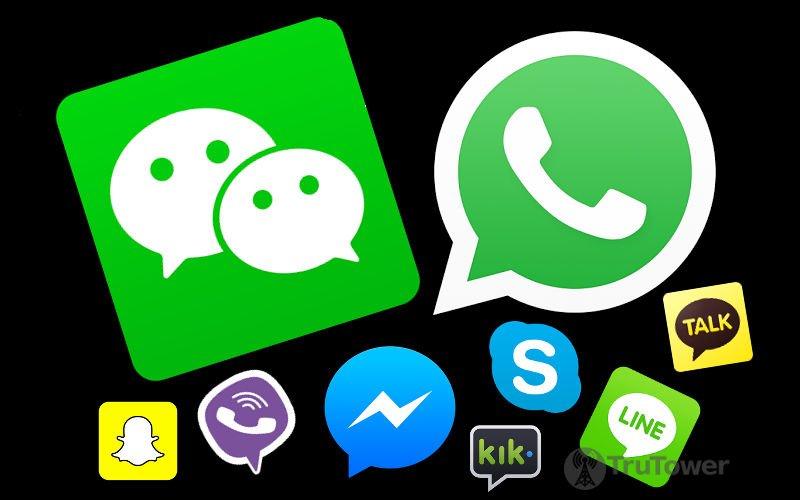 Whatsapp Vs Skype Vs WeChat
