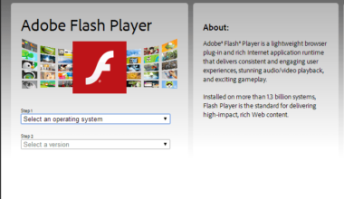 Official Adobe Flash Player Update