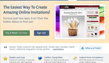 Anyvite registration software