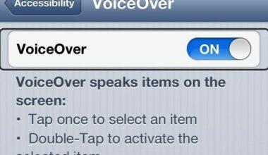 iPhone Via VoiceOver Feature