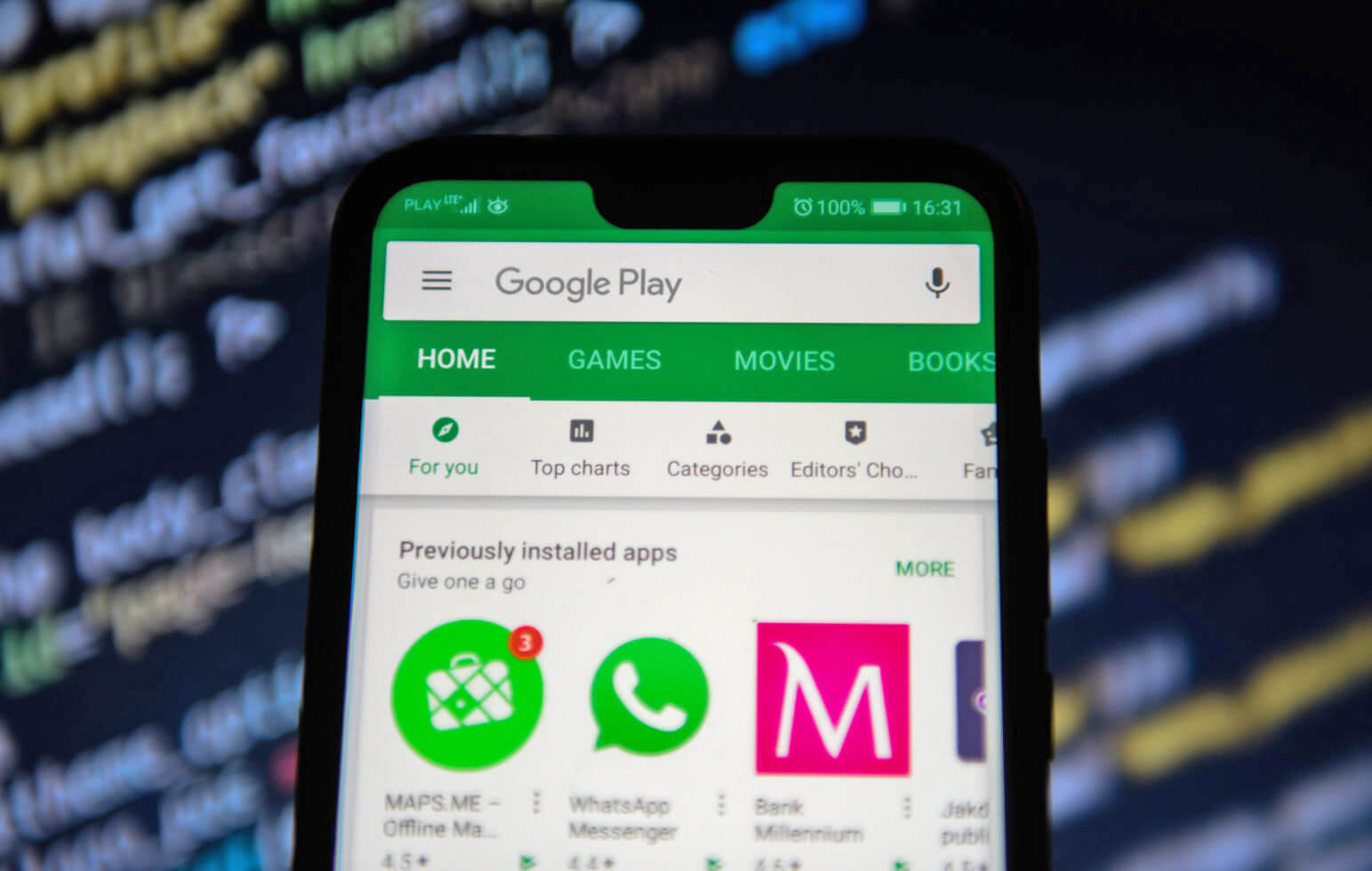 Play Store on Android phone