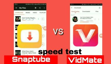 Snaptube and Vidmate