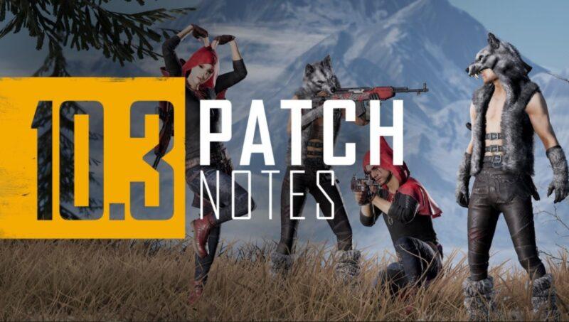 pubg console update 10.3